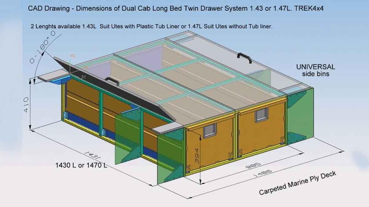 Steel Drawer System 400 X 1500mm