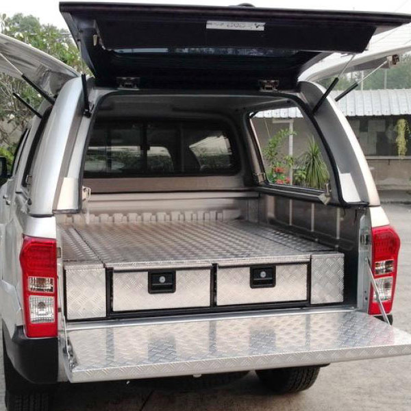 Aluminum Checker Plate Drawer Systems 250 X 1500