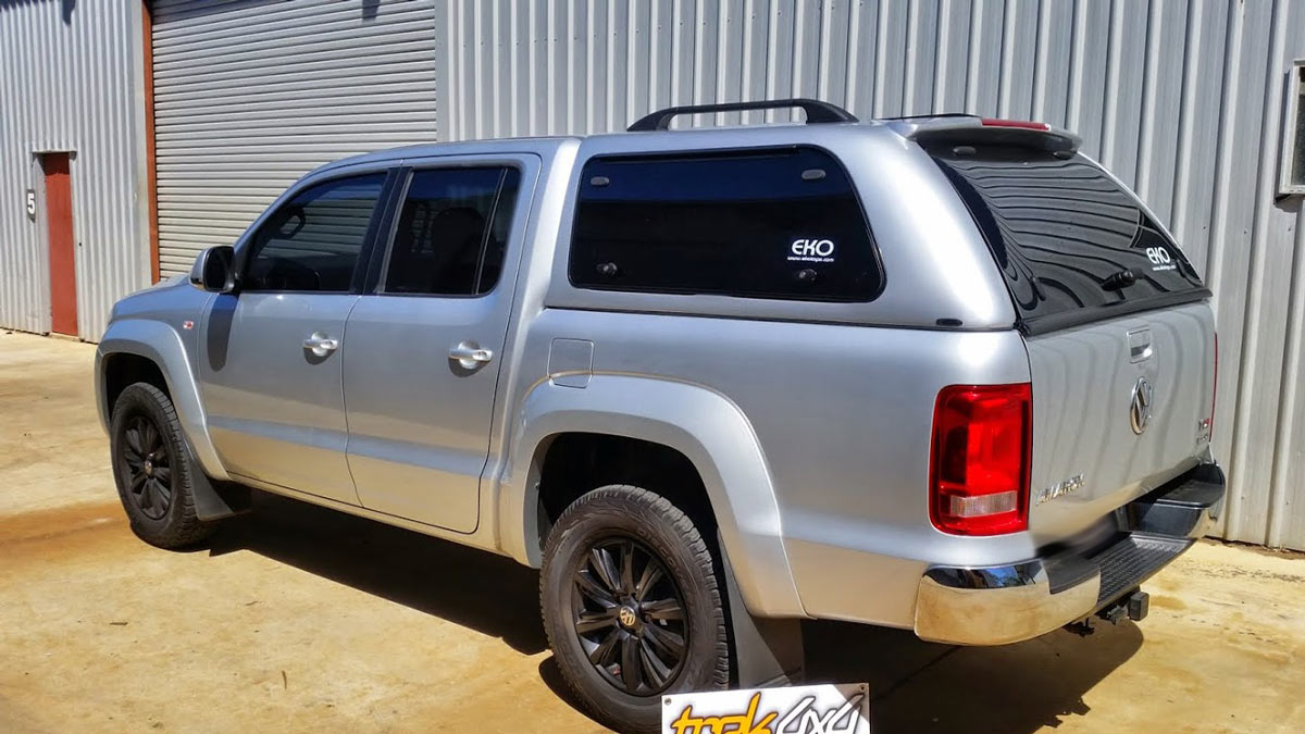 Volkswagen AMAROK in Reflex silver 8E8E and EKO Canopy By Trek 4x4