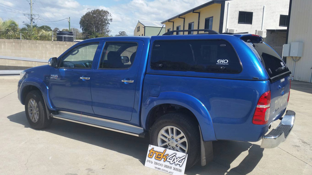 Toyota Hilux with EKO Canopy in-8T7 Blue-streak
