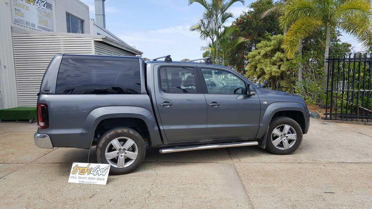 Volkswagen Amarok with WORKSTYLE Canopy in Grey from Trek 4x4