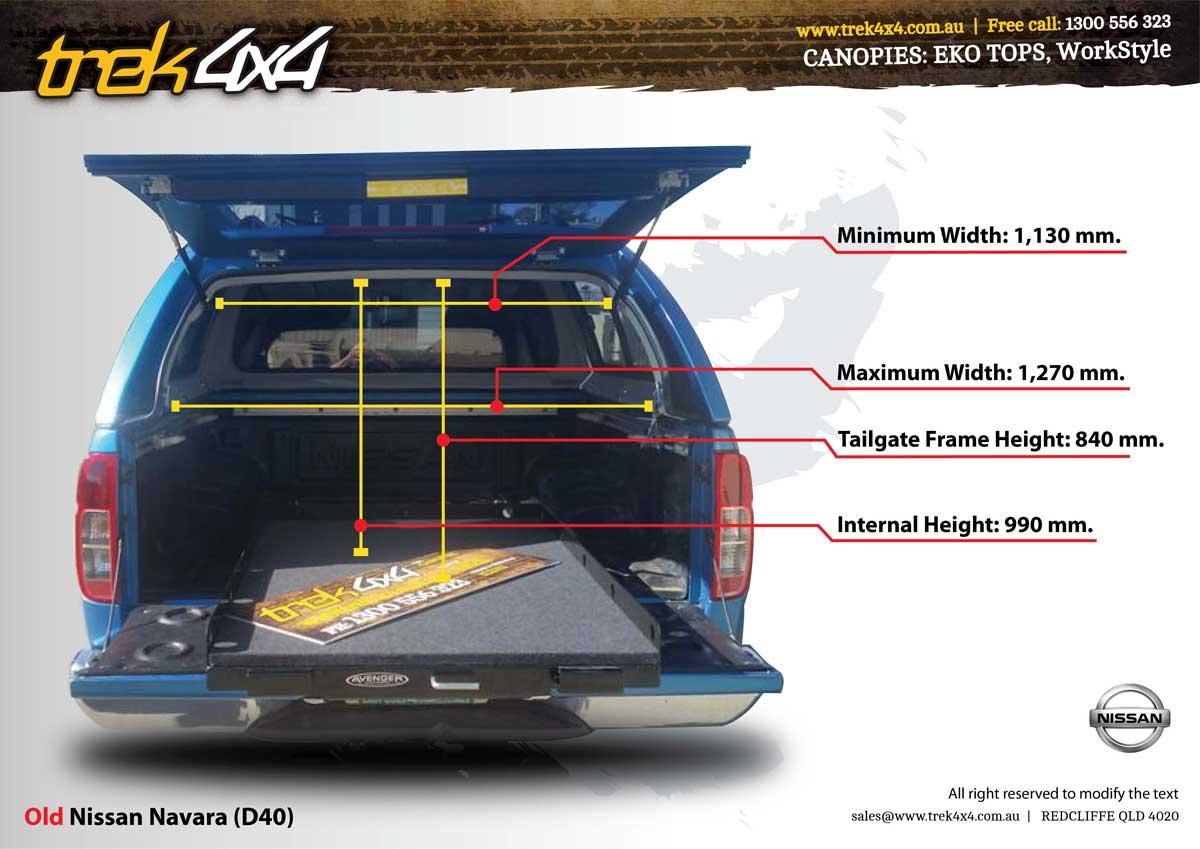 Nissan Navara D40 Stx Amp Rx Dual Cab Canopy