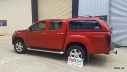 Isuzu D max EKO canopy in 546 Venitian Red left side