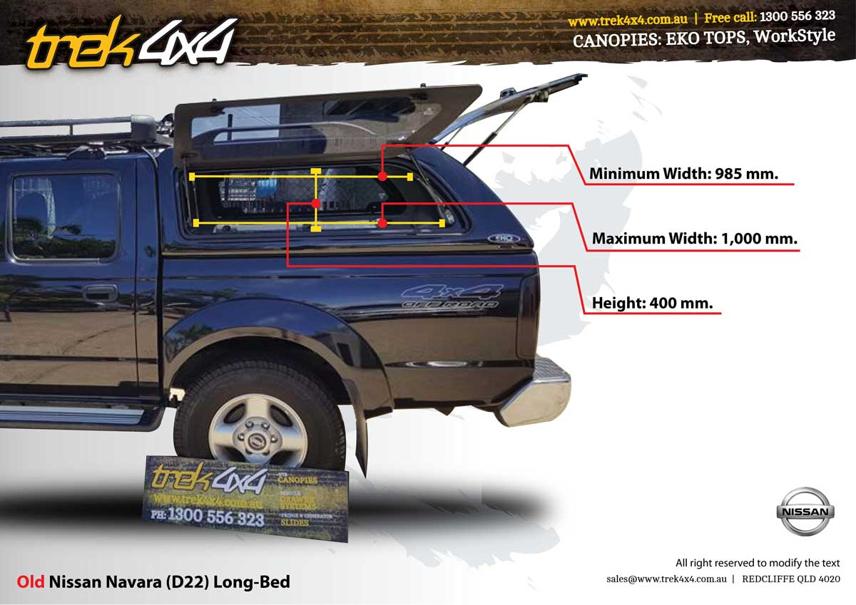 window-dimesnions-for-nissan-navara-d22-eko-canopy  sc 1 st  Trek 4X4 : canopies for nissan navara - memphite.com