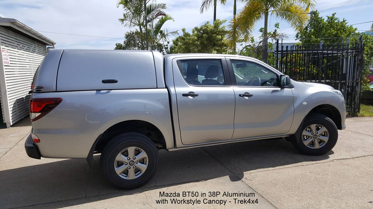 Mazda BT50 in 38P Aluminium with WORKSTYLE Canopy