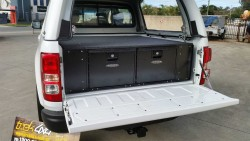 Holden Colorado RG 2012 with twin drawers for storage