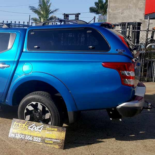 Mitsubishi Triton MQ 2015+ with EKO Canopy in D23 Impulse Blue