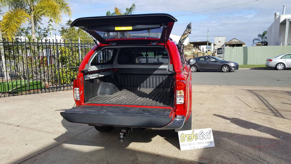 nissan navara 2015 canopy open tailgate in ax6red - Open Canopy 2015