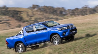 Toyota hilux MK9 2016 on a hill