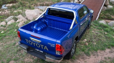 Toyota hilux MK9 2016 top view of tray