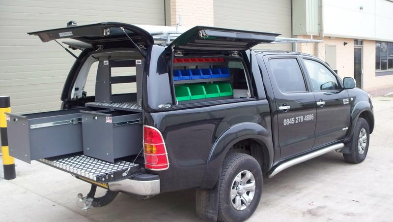 Toyota Hilux - Workstyle Canopy with 'drawer & shelve system'