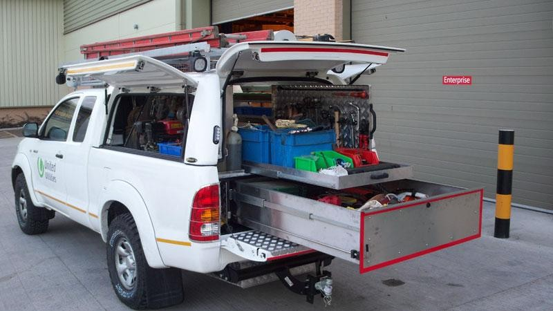 Toyota Hilux – Workstyle Canopy with 'drawer system'