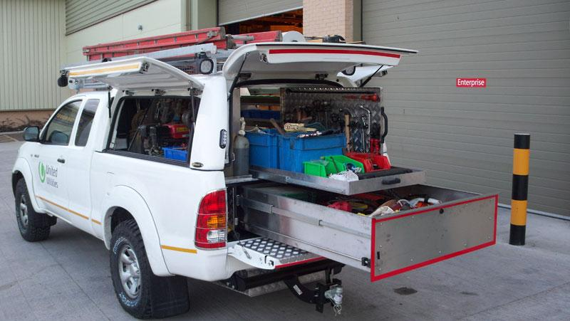 Toyota Hilux - Workstyle Canopy with 'drawer system'