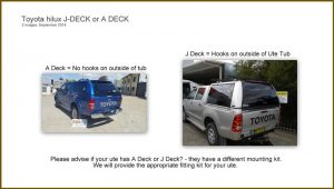 Hilux a deck to j deck