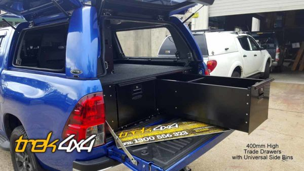 hilux 2016 with workstyle canopy and 400mm drawers