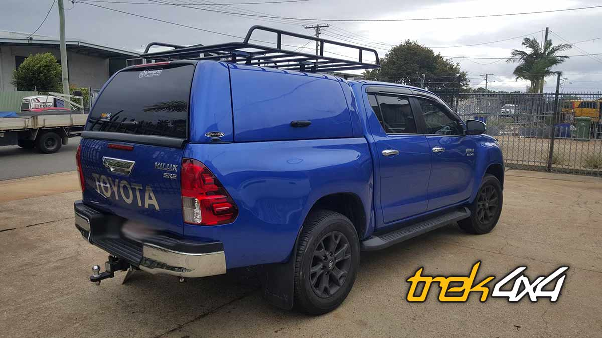hilux 2016 with workstyle canopy in nebular blue