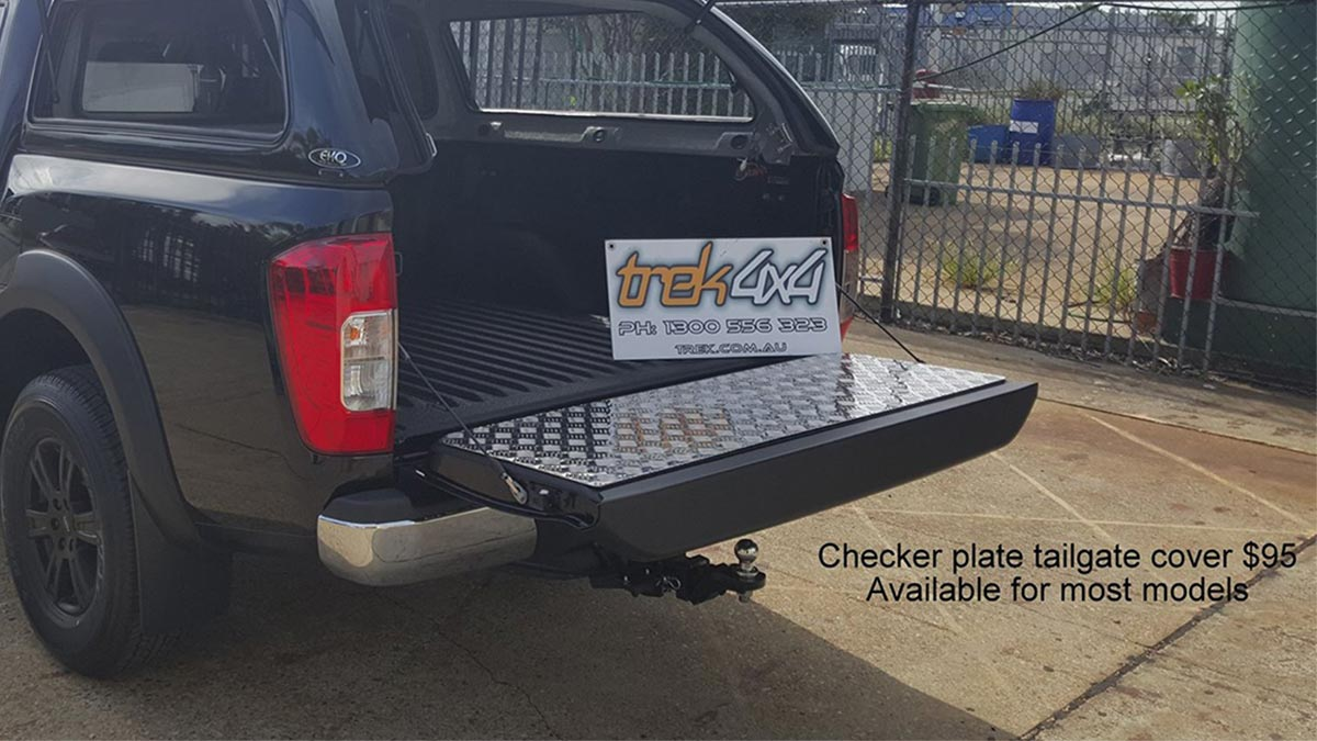 Tailgate cover in Checker plate available on most models - Trek 4x4
