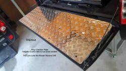 alloy checker plate tailgate cover