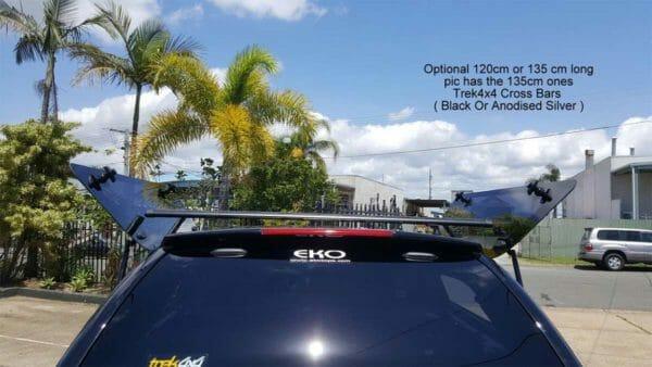 Trek4x4 Roof rack on Triton MQ in X08 Black