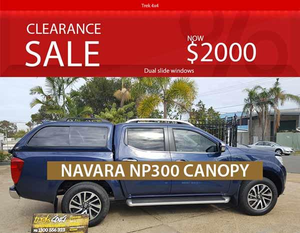 Nissan Navara Canopy - Sapphire Blue RAA - SALE