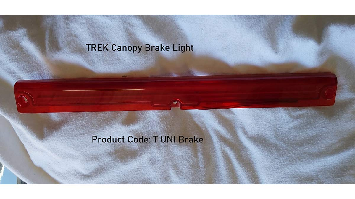Brake LIghts for TREK Canopies - Trek 4x4