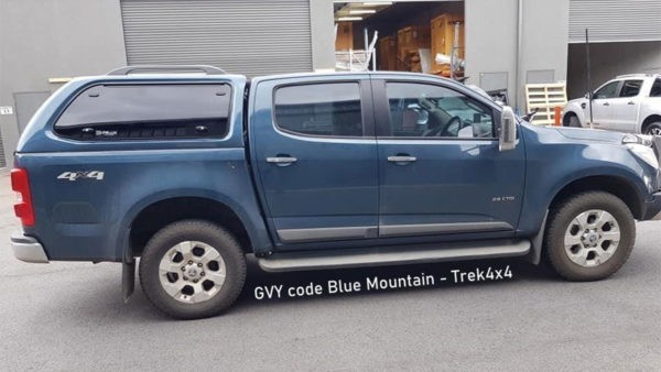 Holden Colorado RG in GVY code Blue Mountain and TREK Canopy