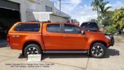 Holden Colorado RG in Orange Rock colour code G6V TREK Canopy