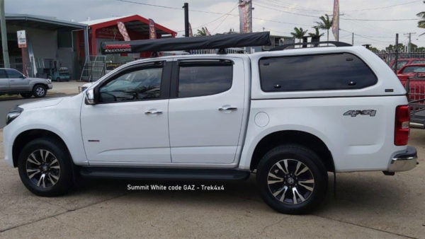 Holden Colorado RG in Summit White GAZ Colour and TREK Canopy