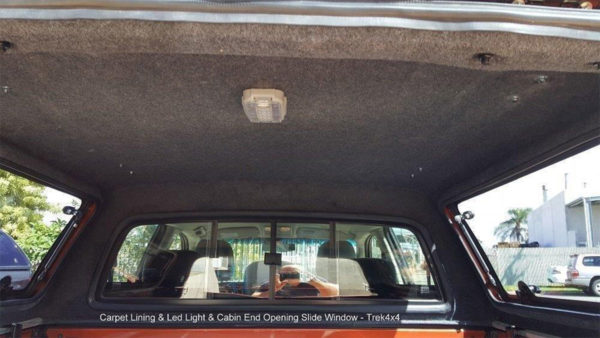Holden Colorado RG with TREK Canopy carpet lining and lights