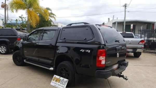 Holden Colorado RG with TREK Canopy in GBO Mineral Black - Trek 4x4
