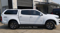 Holden Colorado RG with TREK Canopy in Summit White GAZ