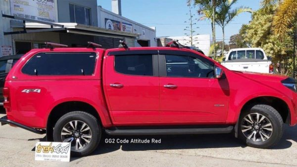 Holden Colorado RGwith TREK Canopy in GG2 attitude Red colour