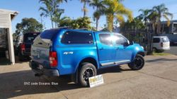 Holden Colorado with TREK Canopy GVZ code Oceanic Blue Colour