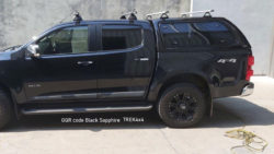 Holden RG Colorado with TREK canopy in GQR Black Sapphire