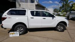 Mazda BT50 in A2W Cool White colour
