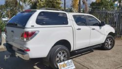 Mazda BT50 with TREK Canopy A2W Cool White withTrek 4x4 Canopy