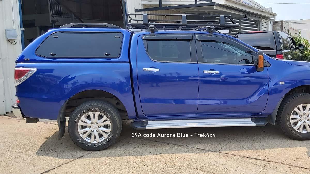 TREK Canopy on Mazda BT 50 in 39A Aurora Blue