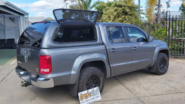 Trek 4x4 Canopy on Vokswage Amarok in Natural Grey M4M4