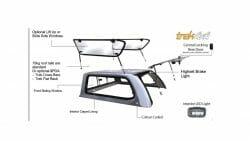 Mazda BT50 Trek Canopy 2020 Features